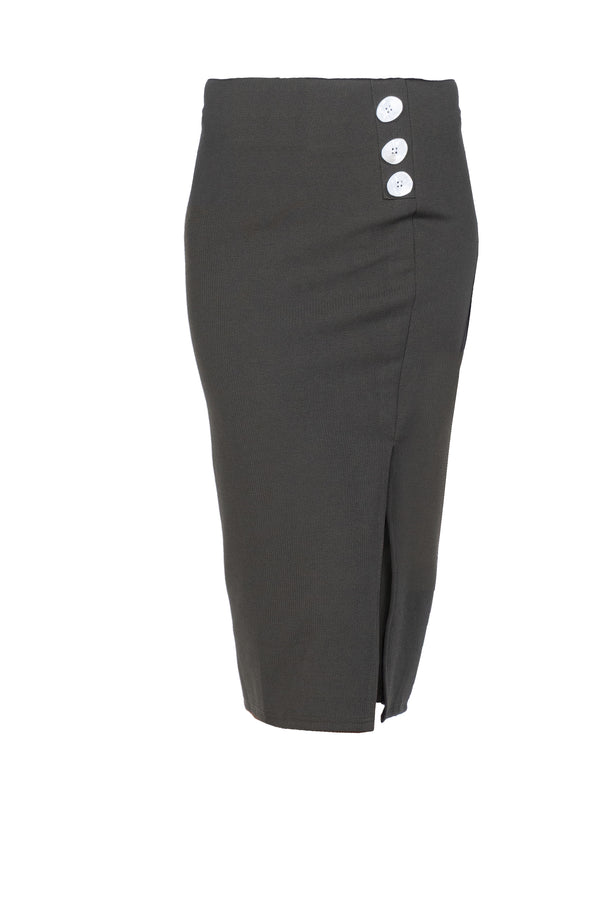 RIBBED KNIT PENCIL SKIRT (4726518448212)