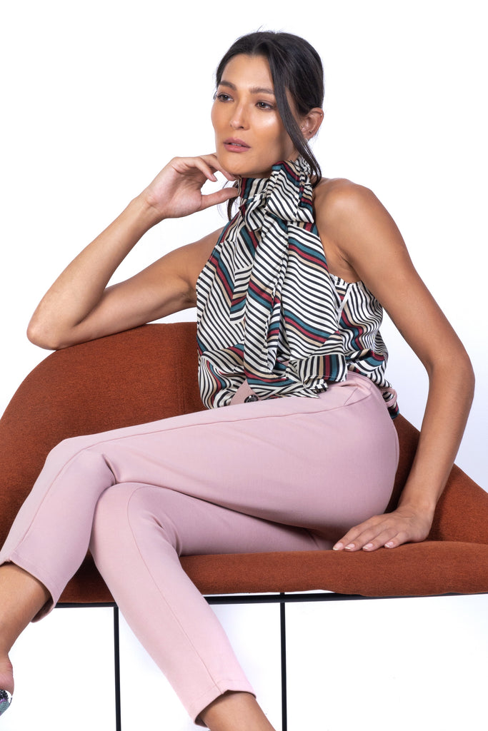 HALTER NECK TOP WITH MULTIWAY RIBBON (4726491938900)