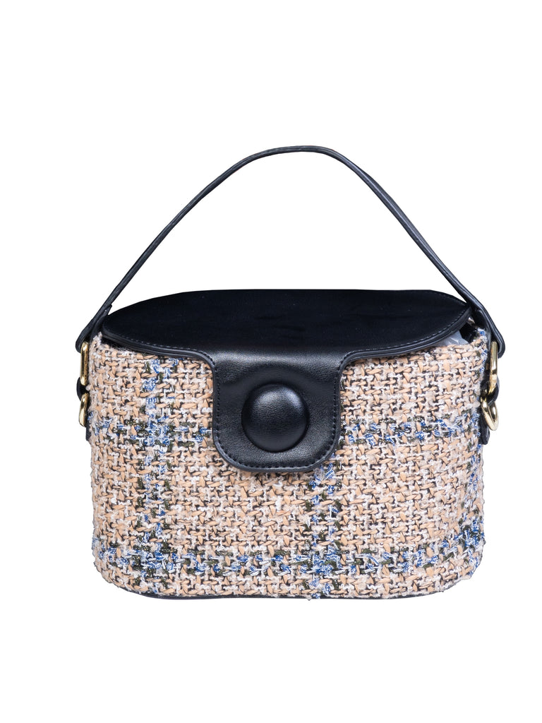 TWEED PURSE-BLACK (4687222177876)