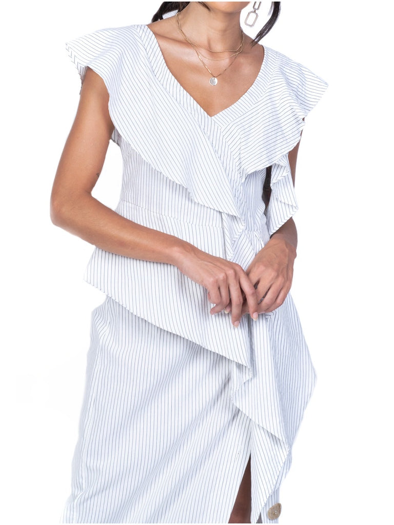 LAYERED RUFFLES DRAPE BLOUSE (4682481467476)