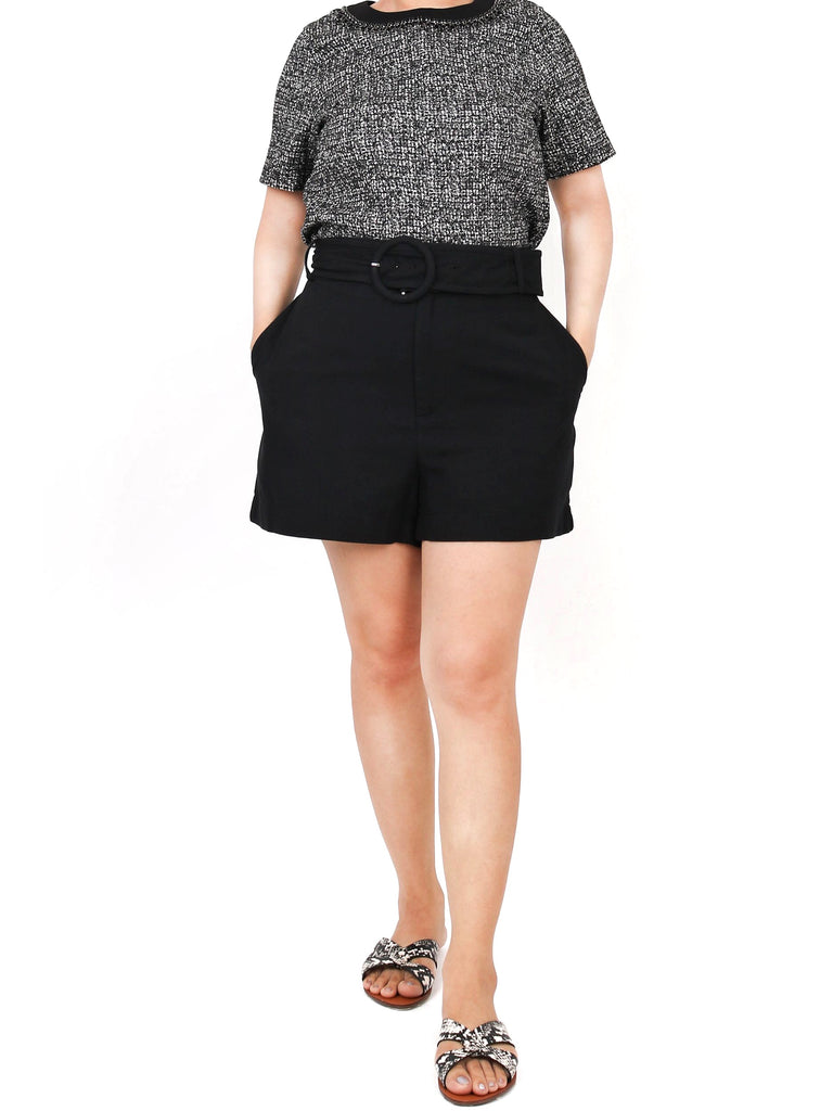 TAILORED SHORTS WITH BELT (4684310282324)