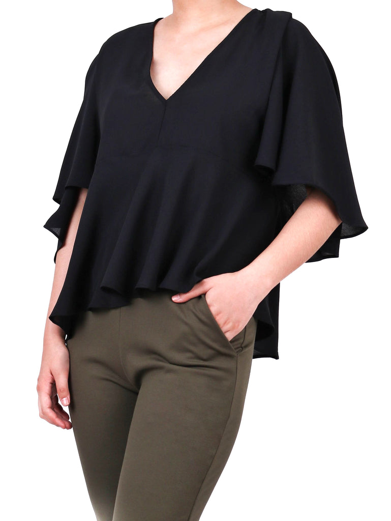 RUFFLED CAPE BLOUSE (4684247859284)