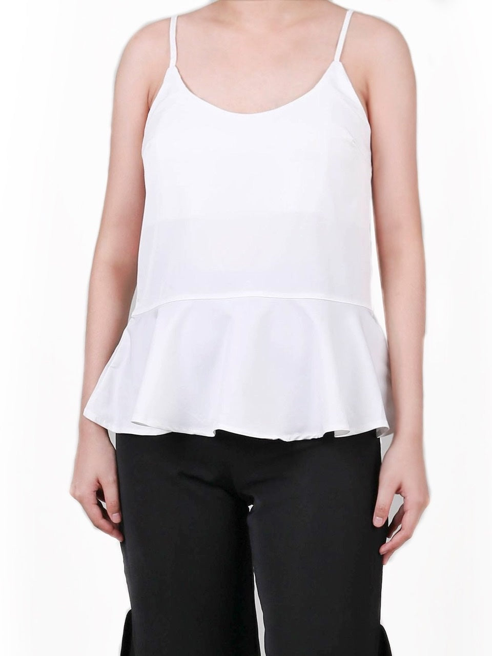 SLEEVELESS PEPLUM BLOUSE (4722496995412)
