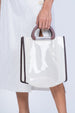 CLEAR BOXY BAG-WHITE