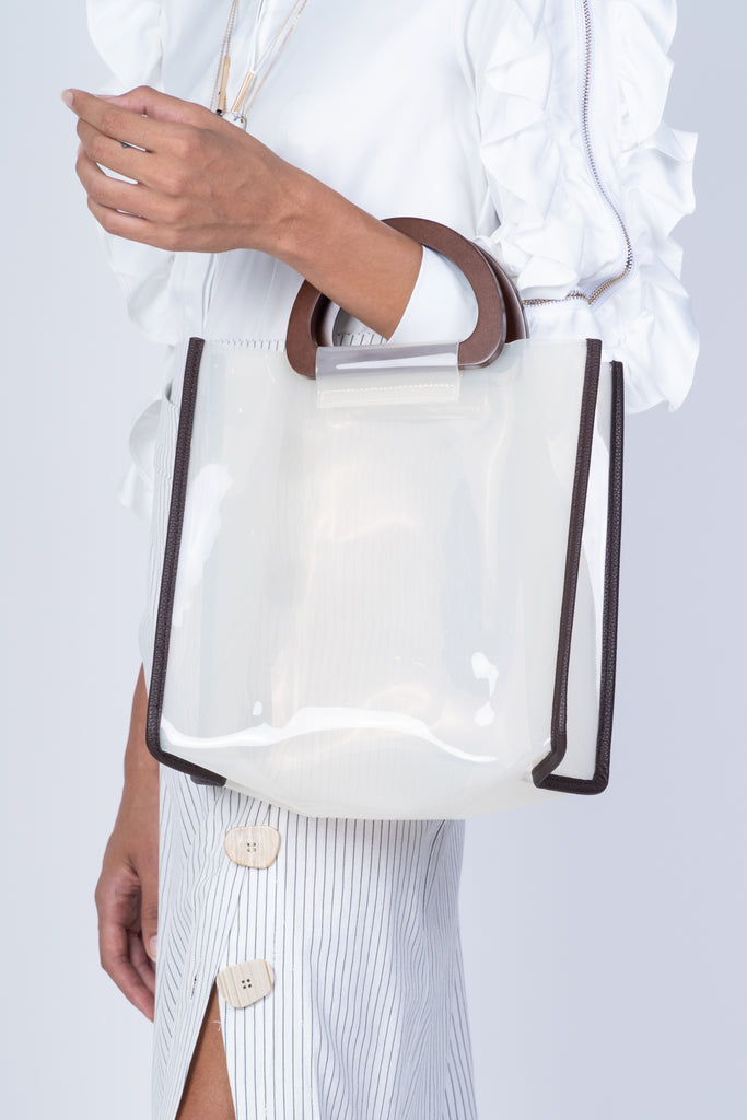 CLEAR BOXY BAG-WHITE (4706374680660)