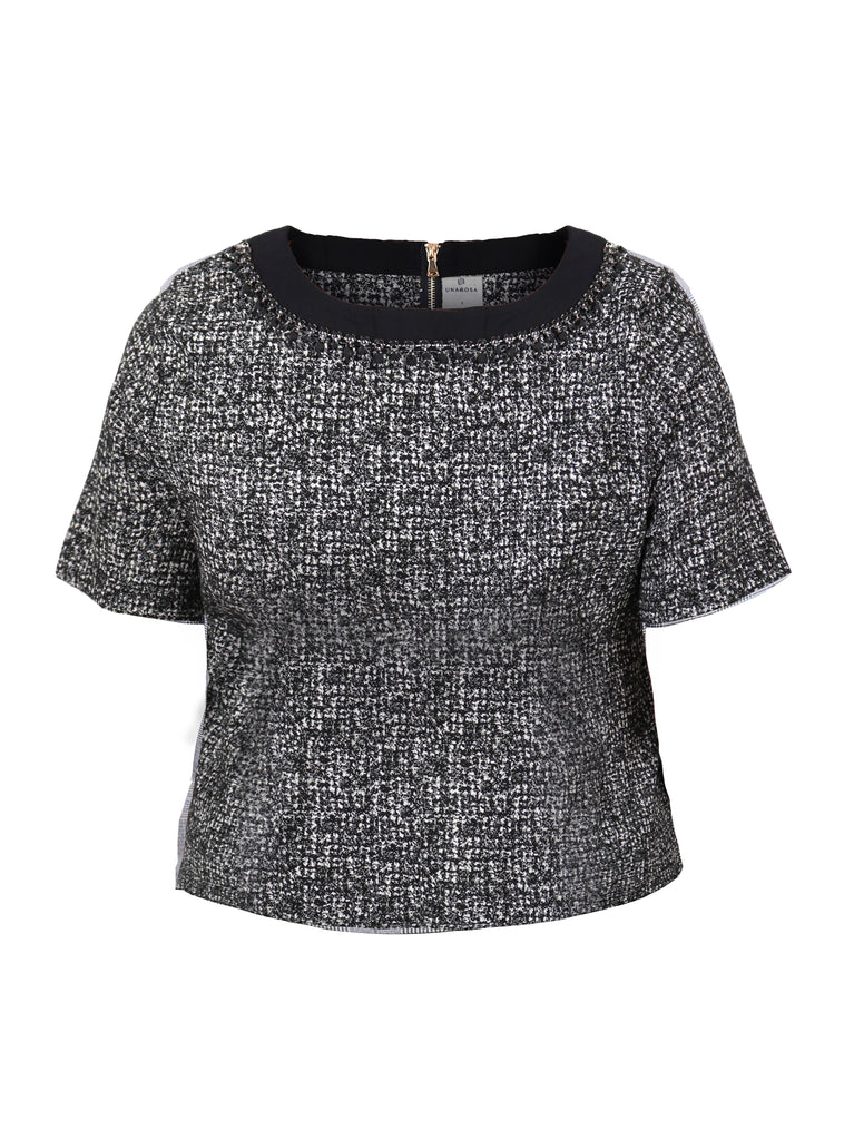 BOXY TOP WITH NECKLINE BLING (4683970609236)