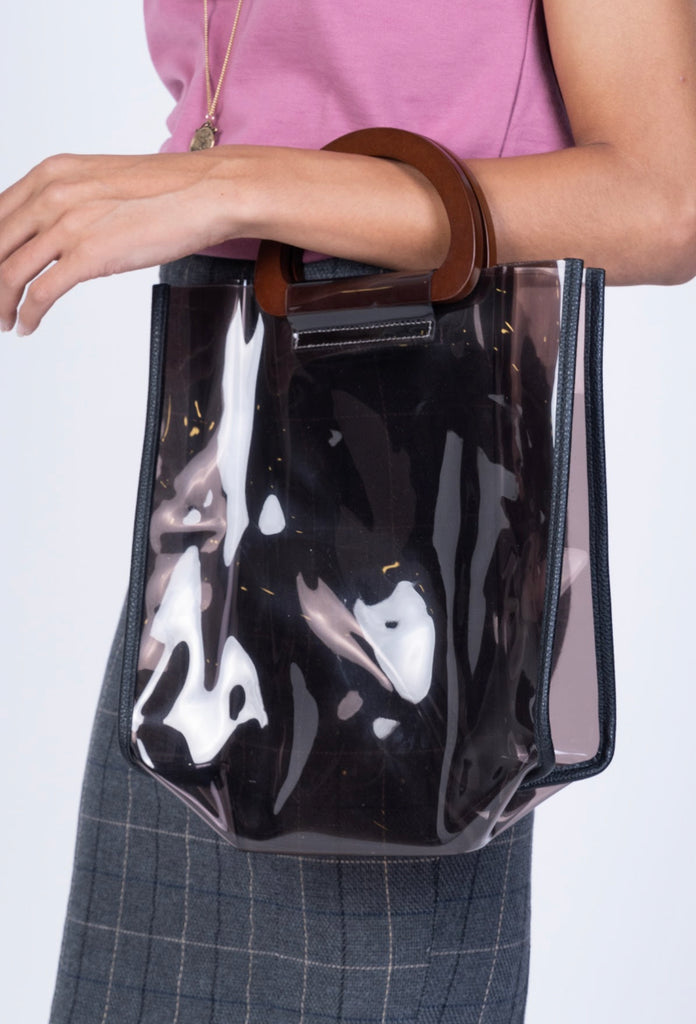 CLEAR BOXY BAG-BROWN (4687219392596)