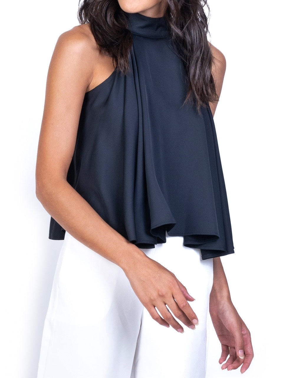 LAYERED HALTER TOP