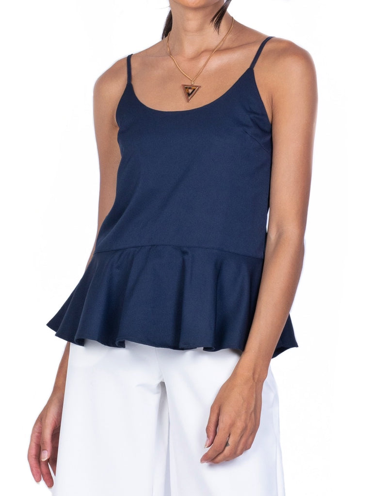 SLEEVELESS PEPLUM BLOUSE (4682461151316)