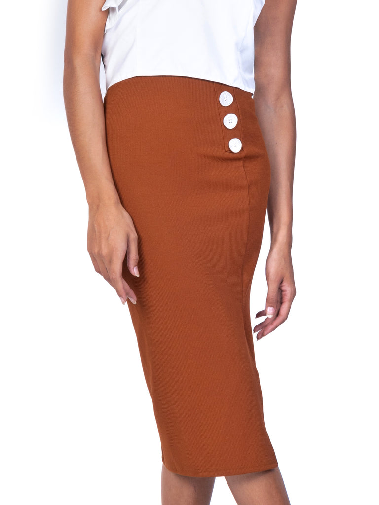 RIBBED KNIT PENCIL SKIRT (4759898292308)