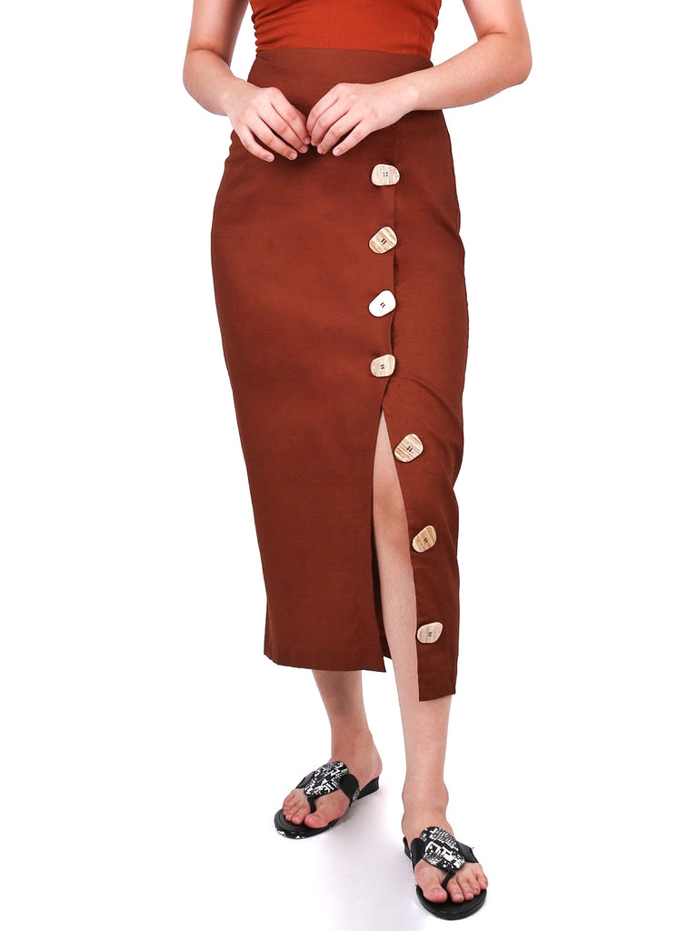 BUTTONDOWN SKIRT WITH FRONT OVERLAY (4684396789844)