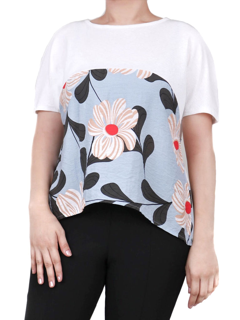EVERYDAY EXTENDED-SLEEVE FLORAL TEE (4684247072852)