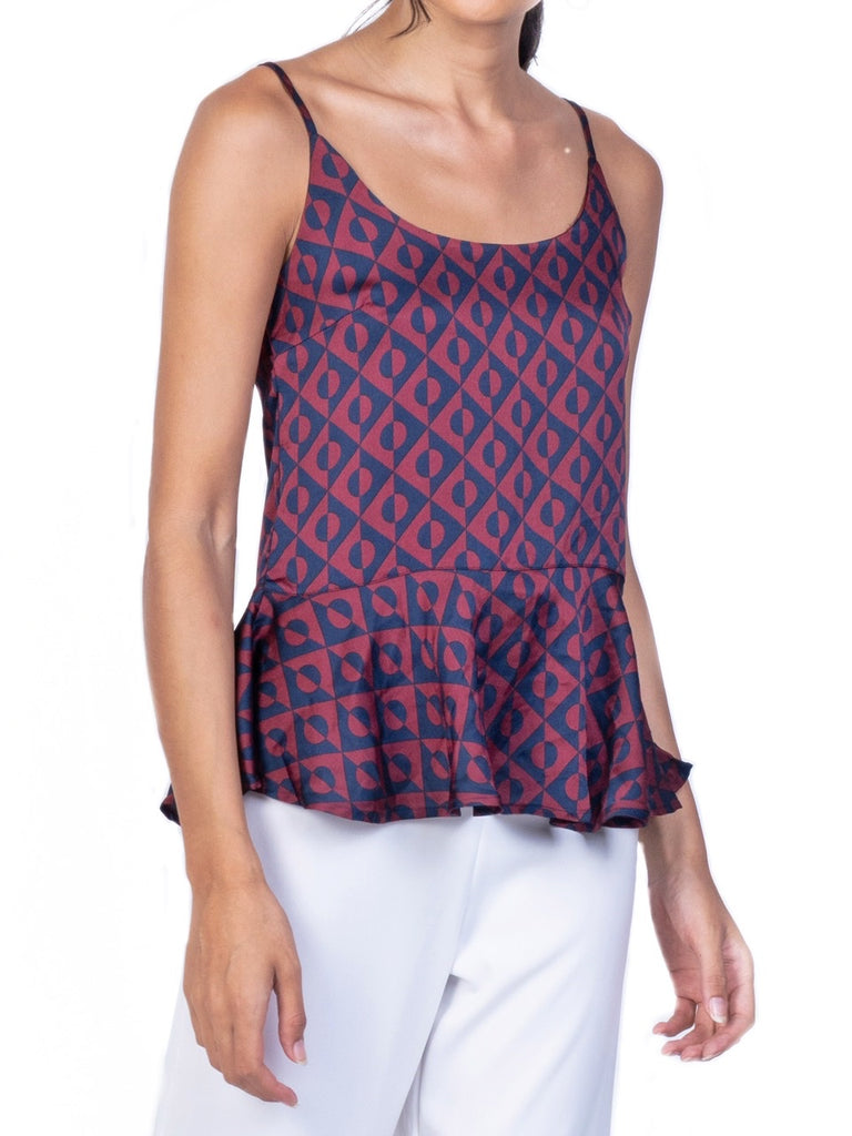 SLEEVELESS PEPLUM BLOUSE (4722495160404)