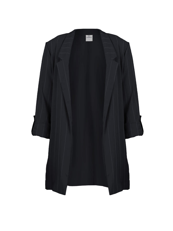 NOTCHED COLLAR BLAZER WITH LONG SLEEVES