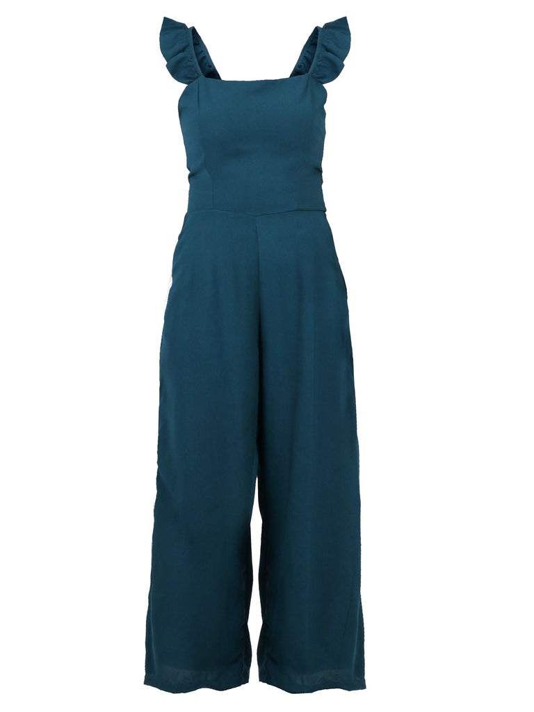RIBBON BACK RUFFLED JUMPSUIT (4684309397588)