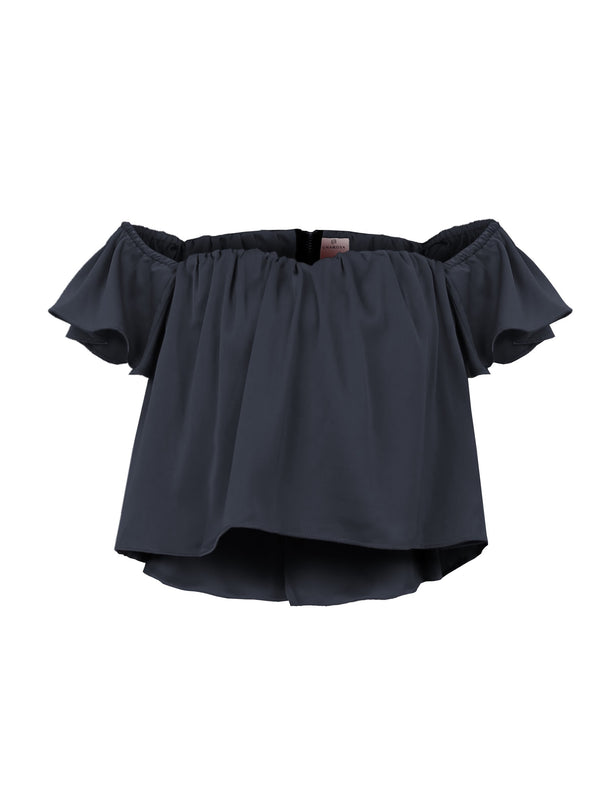 OFF SHOULDER SATIN TOP (4682466230356)