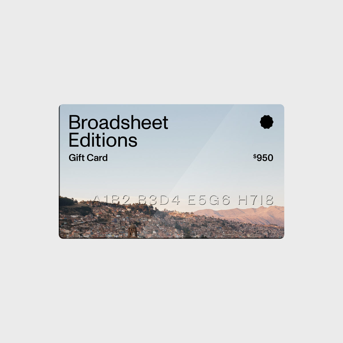 The Broadsheet Editions Gift Card
