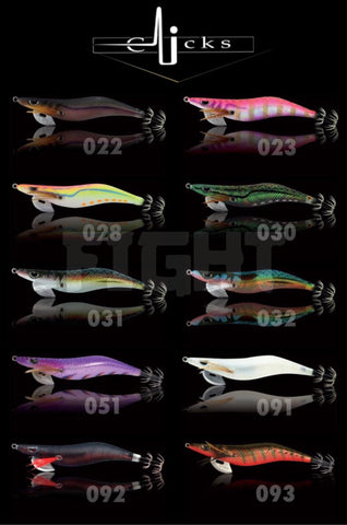 CLICKS Squid Jig Range 2018