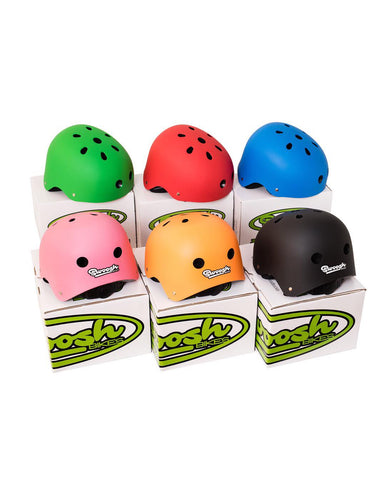 swoosh kids helmets colourful lightweight and available in 6 colours