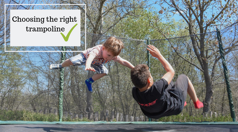 choosing the right trampoline for your family all things for kids australia