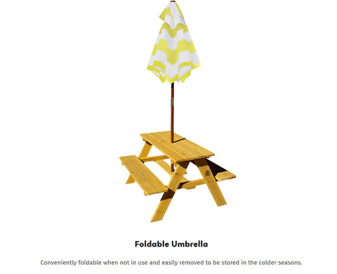 lifespan sunset foldable picnic table with foldable umbrella wooden kids