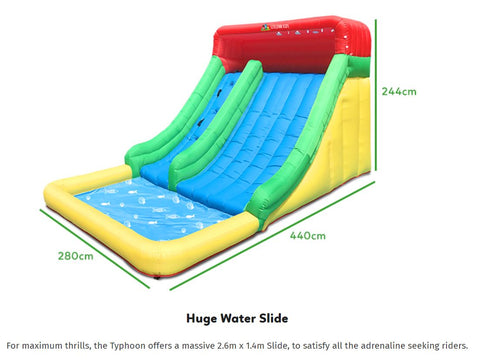 lifespan typhoon measurements mega waterslide all things for kids