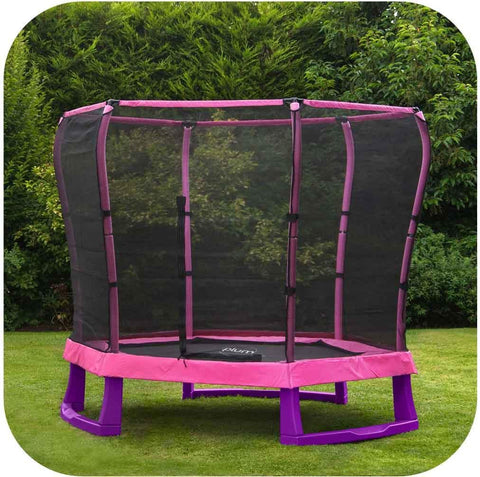 Image of 7ft Junior Jumper Pink Trampoline by Plum Buy Now on Afterpay All Things For Kids