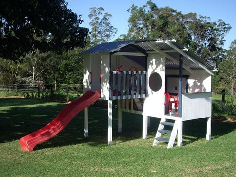 Personalised Triplex Cubby Play House For Kids My Cubby Cubby House allthingsforkids.myshopify.com afterpay zip