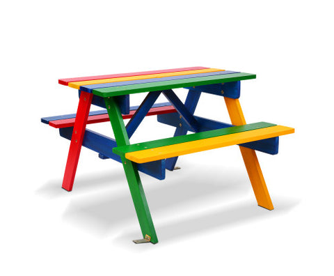 Kids Wooden Picnic Bench Set - Vivid Color All Things For Kids Kids Furniture allthingsforkids.myshopify.com afterpay zip