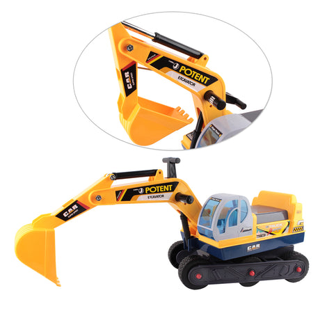 Kids Ride On Excavator 3 Digging Movement Yellow All Things For Kids Kids Ride on Car allthingsforkids.myshopify.com afterpay zip