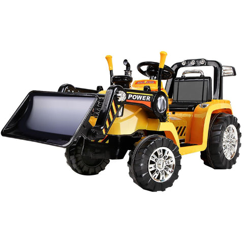Electric Bulldozer Tractor Loader inspired Kids Ride On Toys - Yellow & Black
