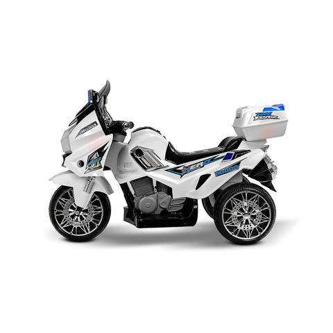 white background with the Rigo Ride On Motorbike - White