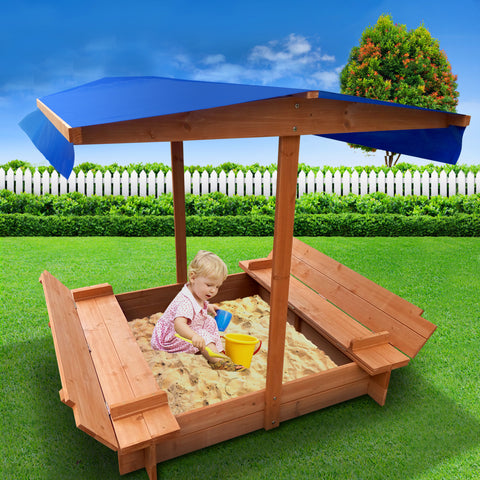 Image of Children Canopy Sand Pit Wooden Sandpit Sun Protection All Things For Kids Sandpits All Things For Kids Melbourne Sydney
