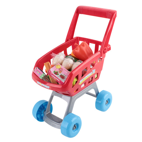 Supermarket Pretend Play Set Red White With Trolley available on afterpay and zippay All Things For Kids Imaginary Play allthingsforkids.myshopify.com afterpay zip