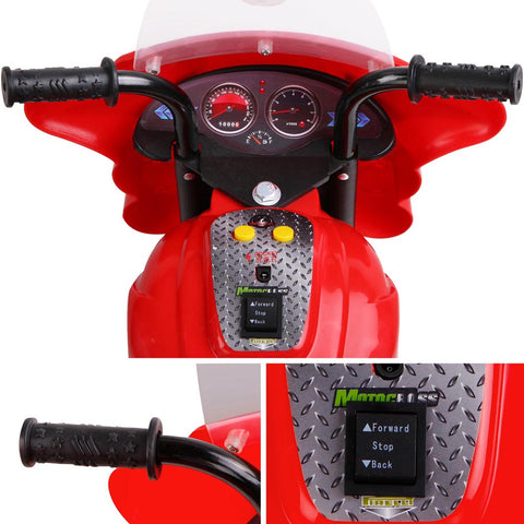 Image of Kids Ride on Police Motorbike Red All Things For Kids Kids Ride on Car $106.64 AUD All Things For Kids Afterpay Zip