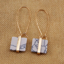 Faux marble pendant earrings