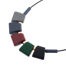 Colorful Wood Statement Necklace