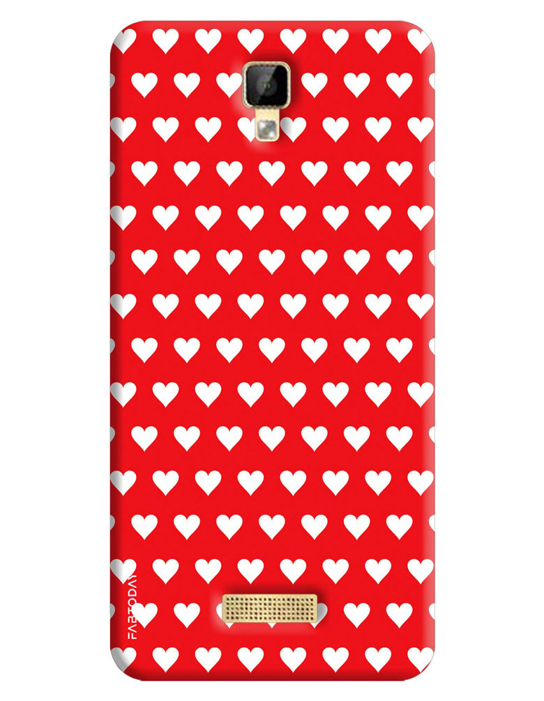 brand new 3ff29 1eba7 Red Hearts Back Cover for Gionee P7