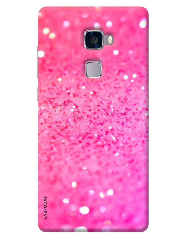 nuovo concetto 4d89c 38391 Pink Sparkles Back Cover for Huawei Mate S