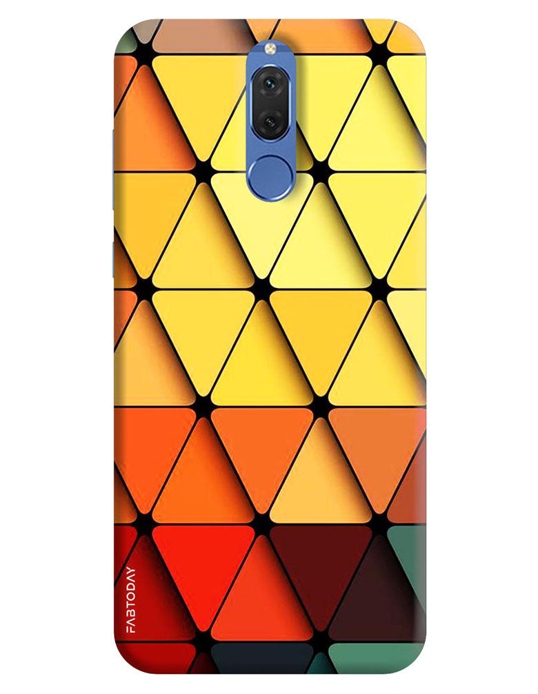 various colors 894d2 5d3ea Triangle Abstract Back Cover for Honor 9i