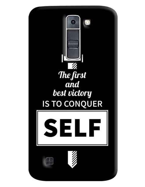 The First and best victory is to conquer Self LG K7 Mobile Cover