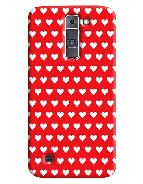 Red Hearts LG K7 Mobile Cover