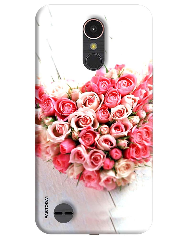 new product 8970b 6ff95 Flowers Back Cover for LG K10 2017