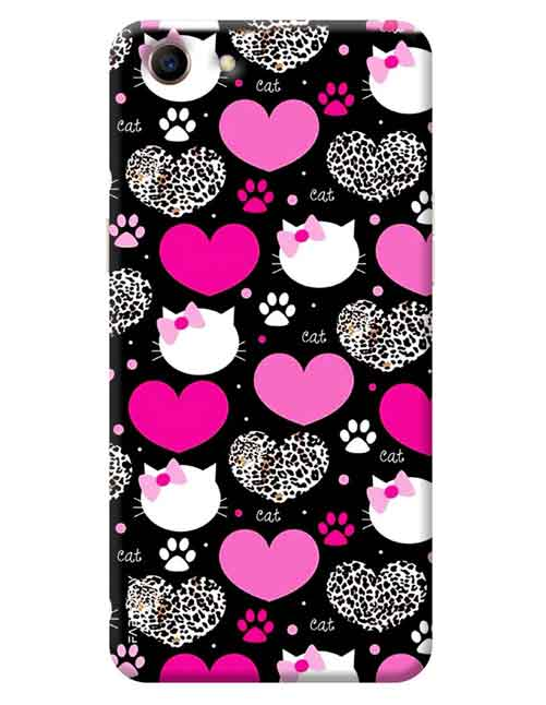 reputable site bf6d6 39e41 Love with Kitty Oppo A83 Mobile Cover