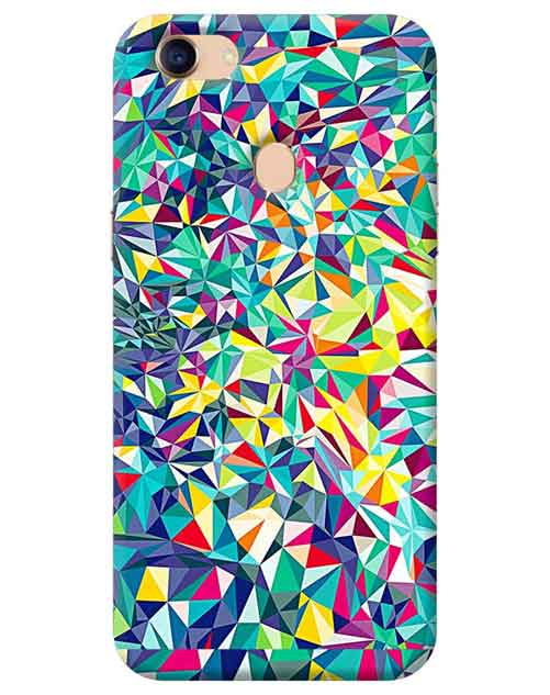 Abstract Oppo F7 Mobile Cover