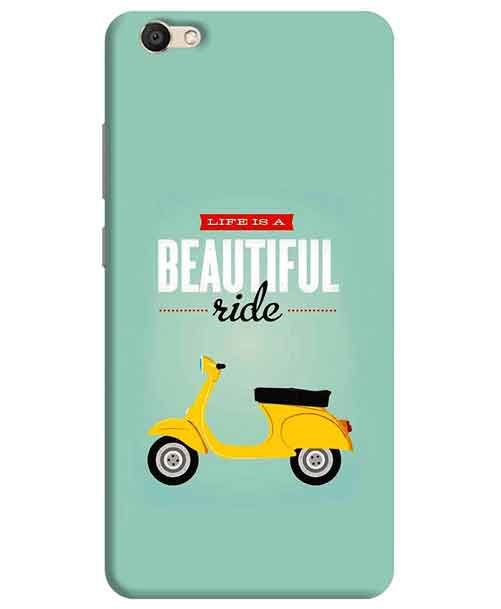 Life is a Beautiful Ride Vivo V5 Mobile Cover