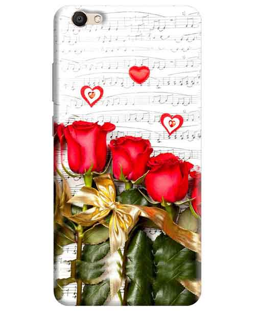 Red Roses Vivo V5 Mobile Cover