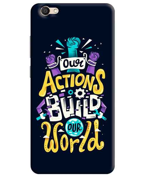 Our Actions Build our World Vivo V5s Mobile Cover
