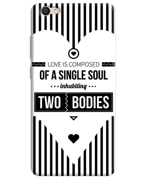 Love is composed of a Single Soul inhabiting Two Bodies Vivo V5s Mobile Cover