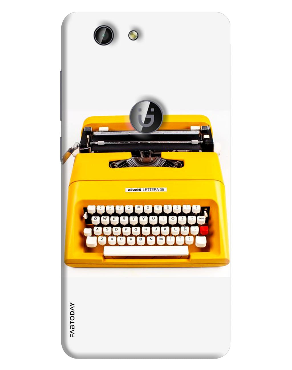 Typewriter Back Cover for Gionee F103 Pro